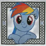 Rainbow Dash cross stitch by ambie719