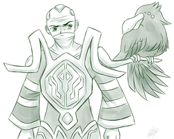 Swain LoL doodle by Sweetochii