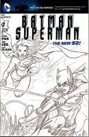 Batgirl-Supergirl-sketch-cover-web by VinRoc