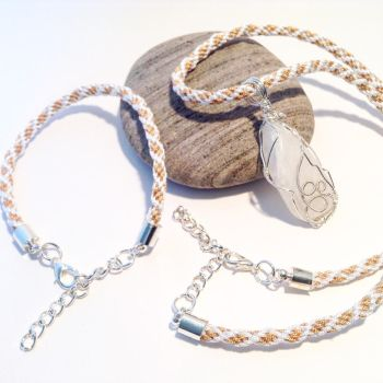 Kumihimo necklace and bracelet by LinniePinnies