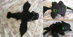 Toothless plush by nowsy