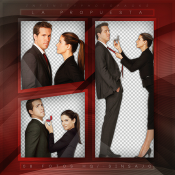 +Ryan Reynolds y Sandra Bullock photopack png by ForeverTribute