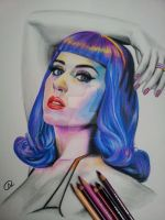 Katy Perry  blue wig by akshay-nair