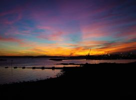 Poole Quay at sunset by dimebagsdarrell
