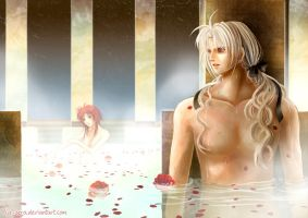 comm Elly3981: Abel and Esther: bath scene by la-sera