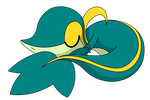 Shiny Snivy Sleeping by kol98