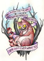 Cheshire Cat tattoo by Zillywhoooore