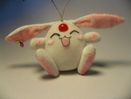 white mokona plush keychain by Rens-twin