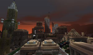 Minecraft: Desert City Skyline by C-MaxisGR
