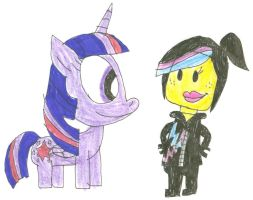 Twilight and Wyldstyle by SithVampireMaster27