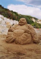Buddha sand sculpture by berov