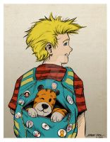 Calvin and Hobbes by mariocau