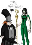 Penguin and Riddler by madcarrot