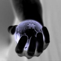 World is in my hand... by SimplyFred