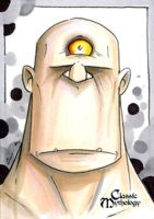 Cyclopes Sketch Card - Chris Uminga by Pernastudios