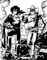 Zorro + Lone Ranger -DocShaner by TheDeviantMakepeace