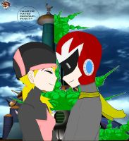 Protoman and Namine_victory_ by Mello-chan91