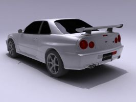 skyline r34 2nd render by syncore