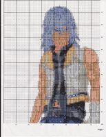 Riku X-Stitch pattern 2 Pg1 by Dracowolf2