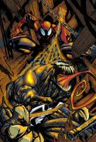 venom spiderman colour by pancreas