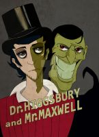 Dr. Higgsbury and Mr.Maxwell by PsychoticShioku