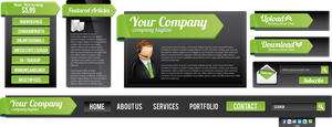 Corporate Web elements 05 by Lemongraphic