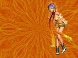 Rikku-Orange Wallpaper by kevin4