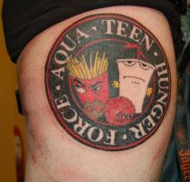 aqua teen hunger force tattoo by yayzus
