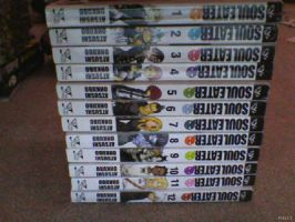 All of my Soul Eater manga's so far by Deaththekid1388