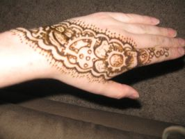 Henna gears and flowers by CaptainMorganTeague