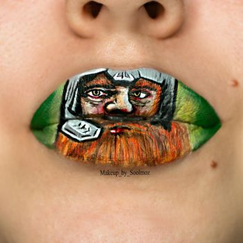 Gimli Lip Art by soolmoz