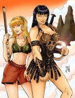 Xena and Gabrielle Colored by rkw0021