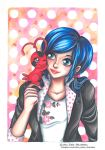 Marinette and Tikki - Fanart Miraculous Ladubyg by CristinaEsteve