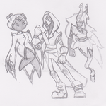 Chaosis, Cyvethra and the new guy by Ophus-Atta
