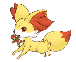 Fennekin used Thief! (Merry Christmas) by xstarlitrose