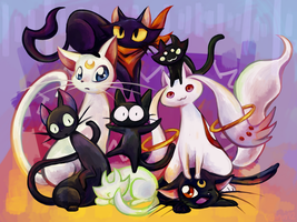 oh look cats by VerminFu