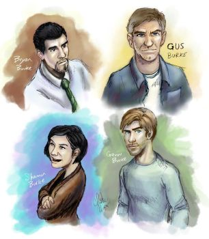 The Burkes - Paint Sketches by iluvu2