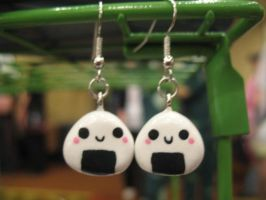 Onigiri Earrings by Michi01