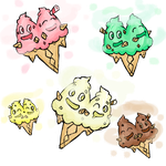 Vanilluxe in 5 Flavours by Sliv-Pie