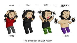 The Evolution of Matt Hardy by Naomimon-Alpha