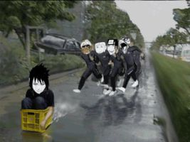 RUN SASUKE by luckytrash
