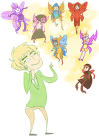 Look At All the Pretty Fairy People by Isolated-Scetch