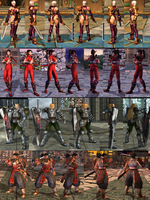 Soul Calibur 2 character reference screenshots by FluffinglyFluff