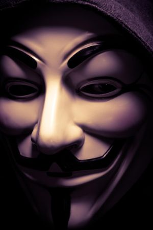 Me, in a Guy Fawkes mask by Esseti
