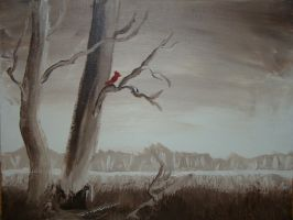 The Lone Cardinal by morghach