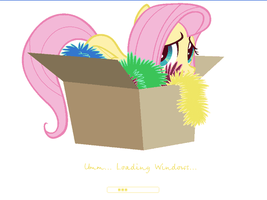Fluttershy boot screen for Windows XP by lionovsky