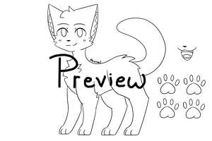 P2U Cat Lineart by Aruival