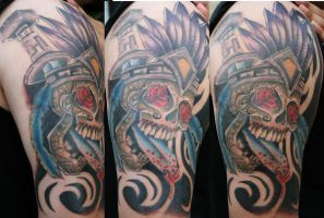Aztec Skull by theJorell