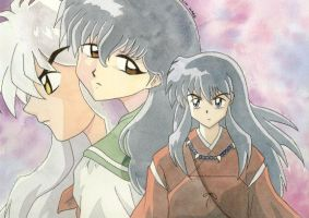 InuYasha Watercolour by kaitydavenport