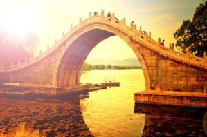 The Sunset arch bridge by sunny2011bj